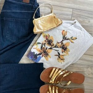 EXPRESS | Floral Jeweled Top